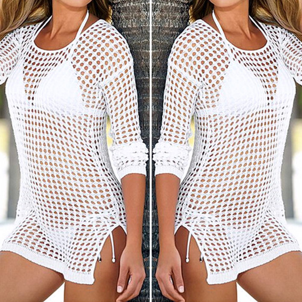 46c3b845b6531 2018 New Bikinis Women Swimsuits Beach Cover Up Sexy Women Beachwear Shirt  Long Sleeve Bikini Hollow