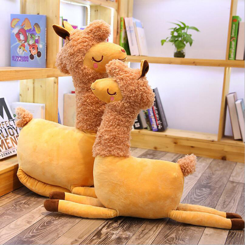 New Style Cute Desert Camel Short Plush Toys Stuffed Animal Soft Doll Toy Children Birthday Gifts