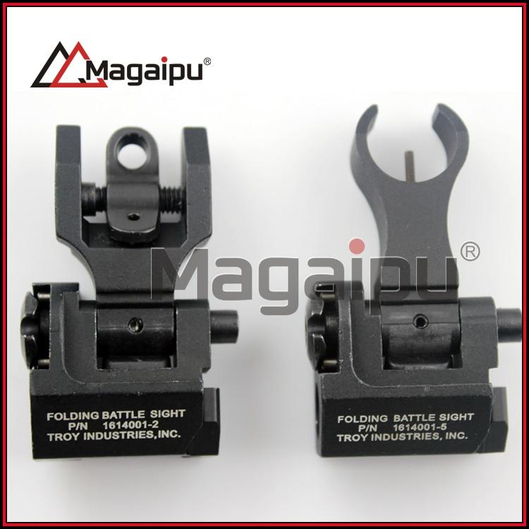 ФОТО Troy Metal Iron Sights O-Shape front Sights,Front and Rear Sights,Folding Back-up Sights Picatinny handguard Rail Free Shipping
