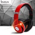 Symrun bluetooth inalámbrico de auriculares plegable auriculares con micrófono de radio de la ayuda fm tf tarjeta de auricular para samsung galaxy