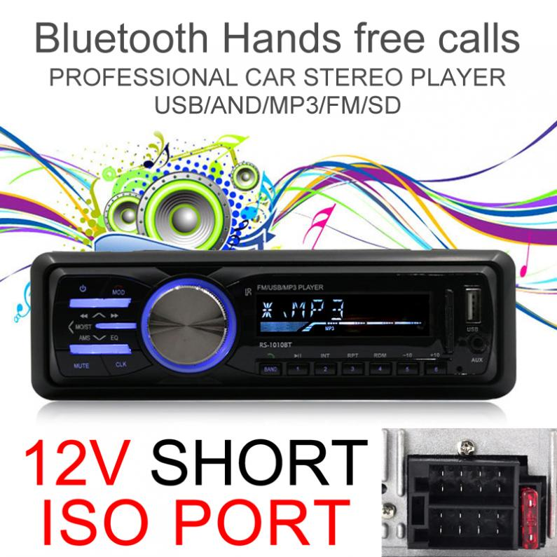 1 DIN 12V Autoradio Auto Car Stereo Radio Bluetooth MP3 Player Support FM Aux Input SD USB with Remote Control image