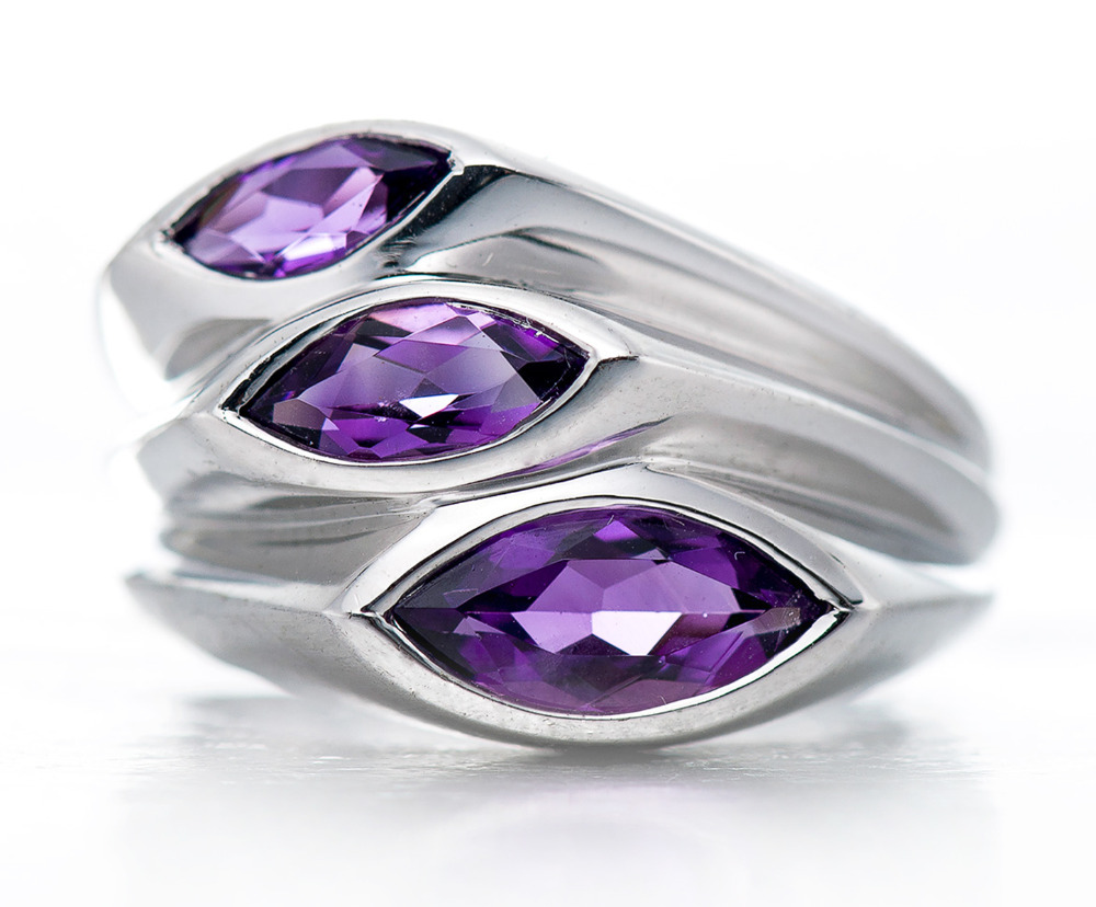 Hutang Stone Jewelry Natural Amethyst Gemstone Solid 925 Sterling Silver Leaf Ring Fine Fashion Jewelry For February Birthstone hutang stone jewelry 8 83 ct natural amethyst gemstone solid 925 sterling silver bracelets for women fine fashion jewelry 7 25