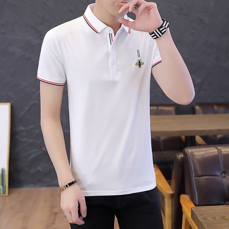 Brand Bee Embroidered Men's   Polo   Shirt Eden Park Cotton Healthy Shirts Solid Color Casual Short Sleeve   Polos   Size M-4XL;YA251