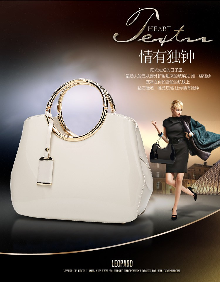 Promotion of new women's bags,Patent Leather Women Bag Ladies Cross Body Shoulder Bags Handbags Blue one size 27