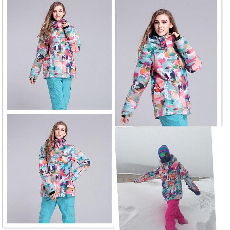 Livraison gratuite veste de ski veste de snowboard imperméable femmes combinaison de neige pour femmes veste alpinisme manteau chaud - 5