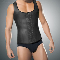 Male Slim Belt Waist Trainer Corsets Vest For Men Shaperwear Latex Waist Cincher Firm Tummy Body Shaper Slimming Bodysuit Men