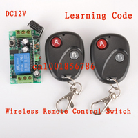 DC12V1CH RF Wireless Remote Control Switch System Receivers Transmitter M4 T4 L4 Adusted Learning Code Gateway