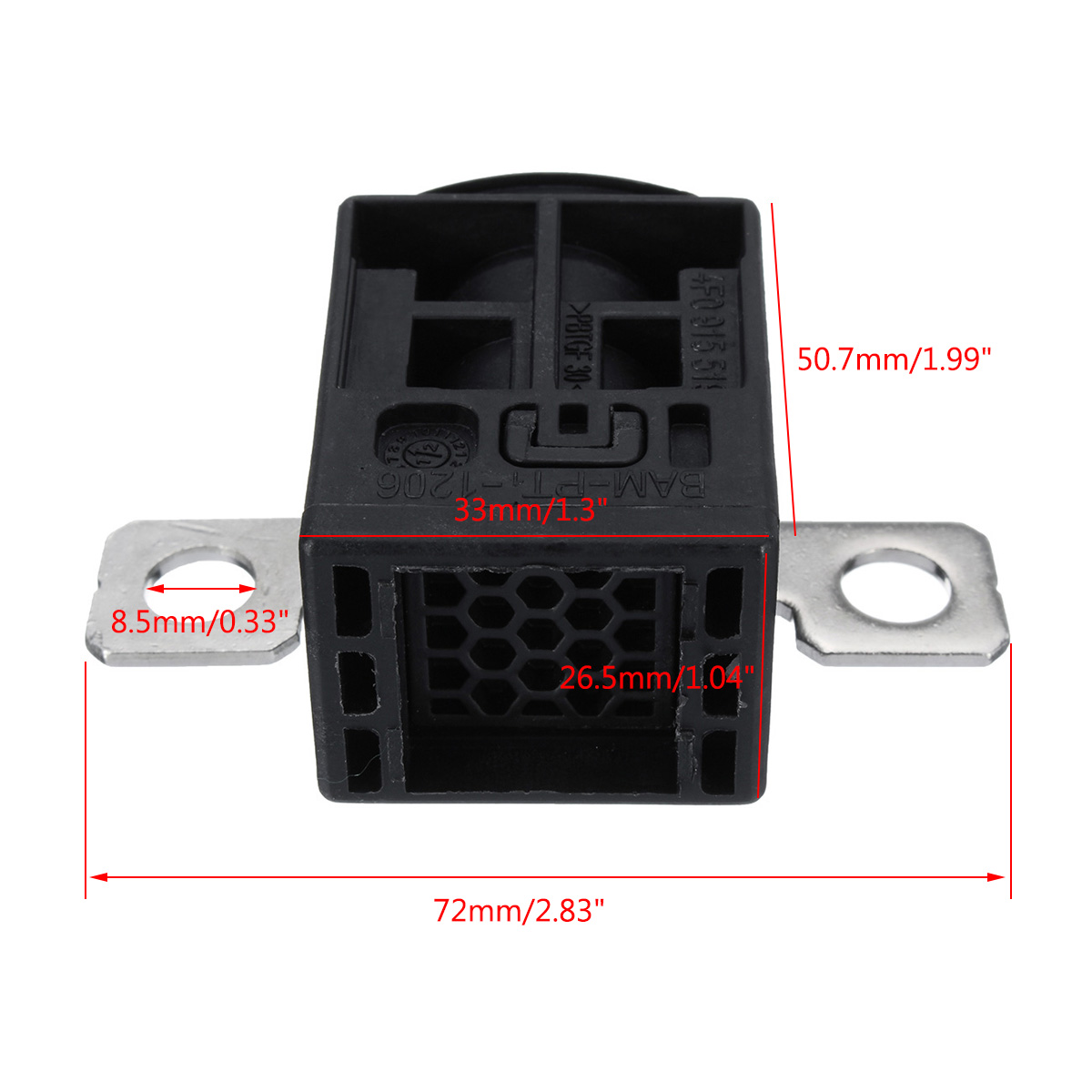4f0915519 battery fuse box cut off overload protection trip for audi q5 a5 a7 a6  [ 1200 x 1200 Pixel ]
