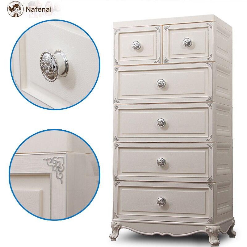 Style européen commode en plastique rangement organisateur boîte armoire meubles de ménage bureau rangement boîte de rangement grand - 2