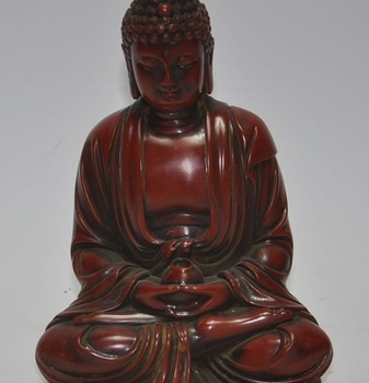 "7""Lifelike old chinese man-made resin carved sakyamuni Tathagata buddha statue"