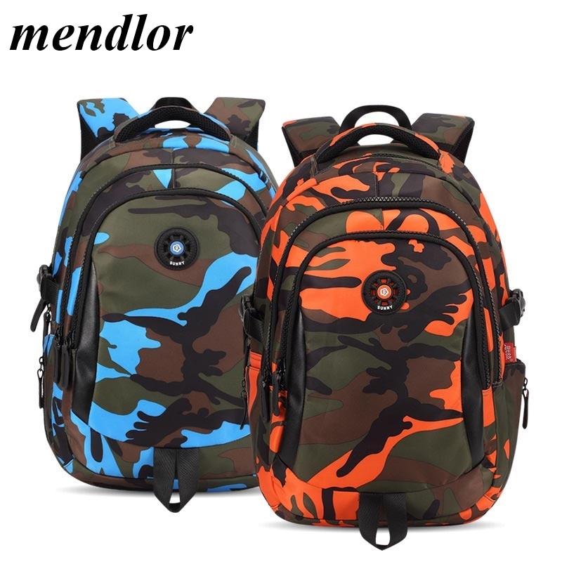 3 Sizes Camouflage Waterproof Nylon School Bags For Girls Boys Orthopedic Children Backpack Kids Bag Grade 1 - 6 Mochila Escolar