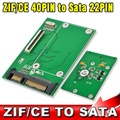 """CE ZIF 40Pin 1.8"""" SSD to SATA 7+15 22Pin ATA HDD Hard Disk Drive Adapter Converter with Tracking number"""