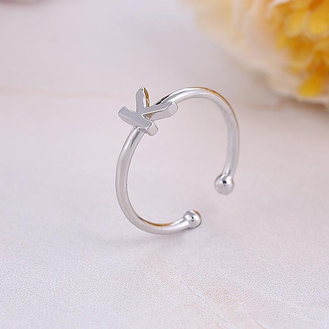 Custom Personalized Alphabet Rings A-Z Initial Letter Name Rings Charm Letter Jewelry Fashion Love Gift New Hot Sell