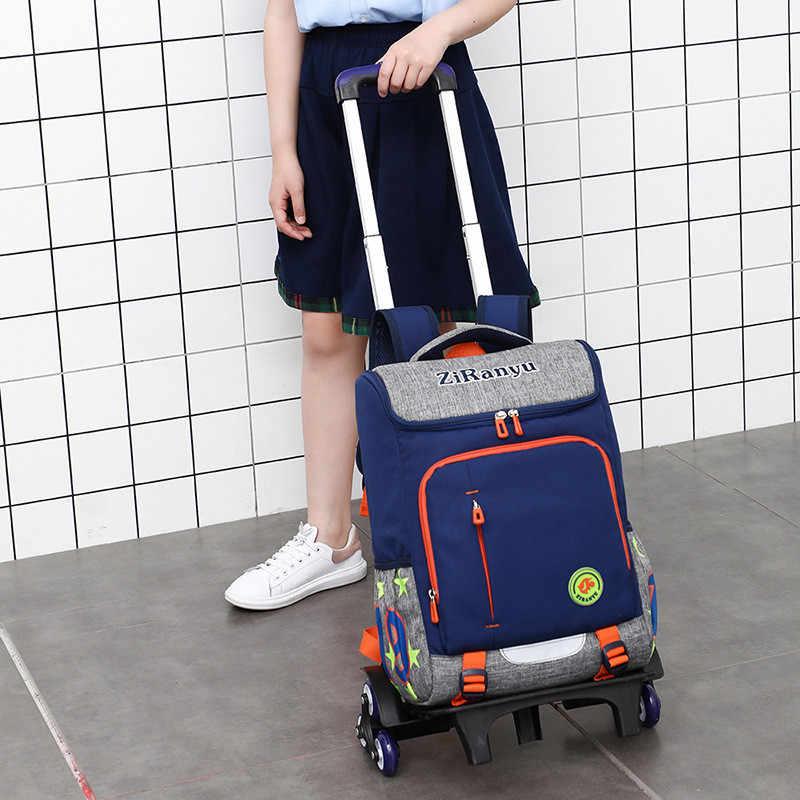 Nuevos bolsos escolares removibles a la moda para niños, impermeables para niñas, mochila con ruedas, mochila para niños, mochila de viaje para equipaje
