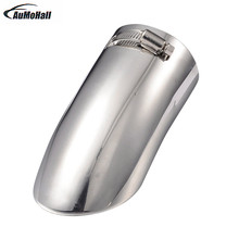 1Pc Car Curved Muffler End Exhaust Trim Tail Pipe Car Tip Exhaust Systems Silver  Diameter7.5cm  Exhaust Replacements Hot Sale