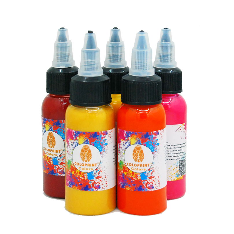 6 Pack Airbrush Colors Sets 30ML Airbrush Body Art Ink ...