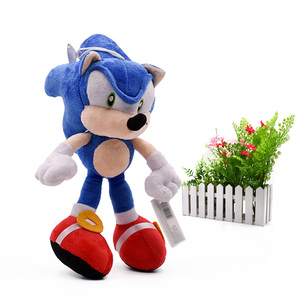 Image 2 - 20 pcs/lot Sonic Soft Doll Blue Sonic Cartoon Animal Stuffed Plush Toys Figure Dolls Halloween Christmas Gift For Children