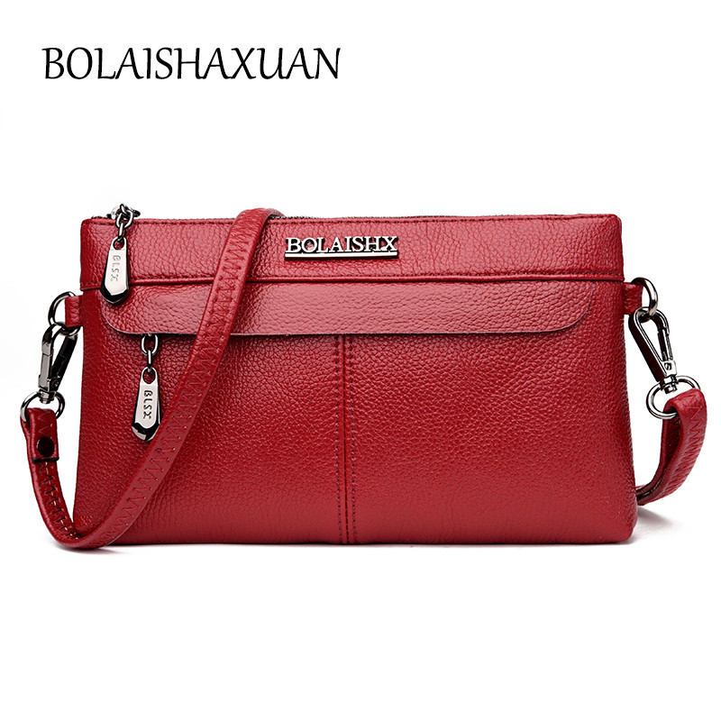 Luxury Women Leather Bags Handbags Designer Double Zipper Crossbody Bag Ladies Small Satchels sac a main femme Casual Tote 2017 luxury women saffiano handbags designer leather set bag wallet women famous brands tote bags small bag ladies sac a main femme