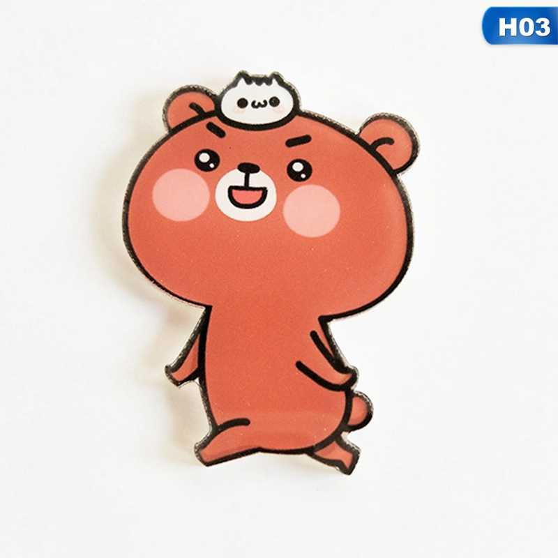 1 PC Kartun Beruang Panda Lencana untuk Pakaian Kawaii Akrilik Badges Icons Di Ransel Ikon Pada Pin Bros wanita Lencana