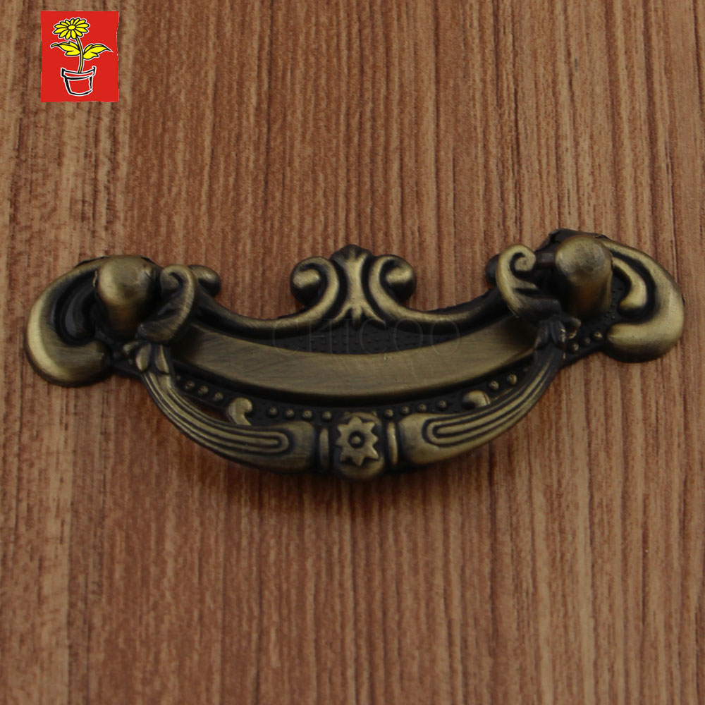 Antique Brass drawer handles Furniture kitchen cabinet handles and knobs kitchen cabinet Fitting copper  handles antique brass swivel spout dual cross handles kitchen