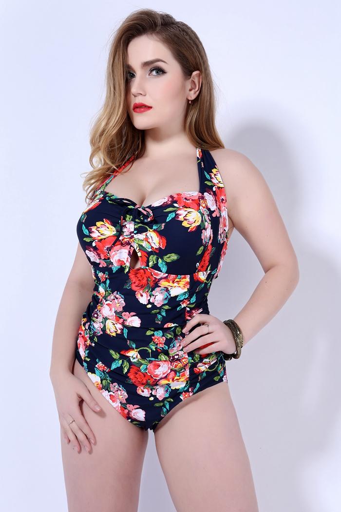 hot New push up one piece swimsuit women plus size swimwear Russian swimming suit large big size beachwear 18