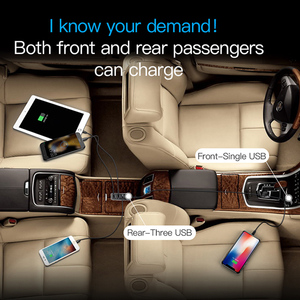 Image 5 - Baseus Multi 4 Ports USB Car Charger Multiple 5.5A Turbo Fast Car Charging USB Charger For iPhone X Samsung Xiaomi Mobile Phone