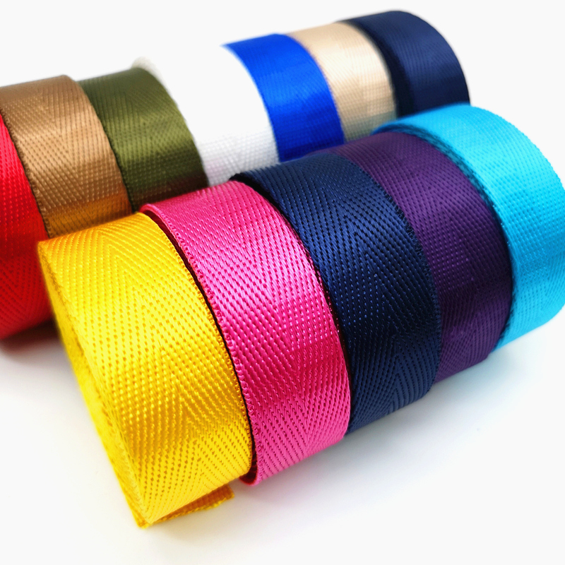 2 Yards 20mm High Quality Strap Nylon Webbing Herringbone Pattern Knapsack Strapping Sewing Bag Belt Accessories