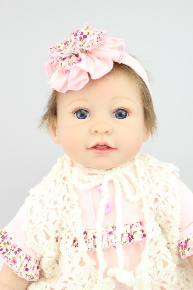 Vivid Newborn Silicone Reborn Baby Dolls with Cloth,Lifelike Baby Reborn Smile Dolls Toy for Children Birthday Gift silicone reborn baby doll toy lifelike reborn baby dolls children birthday christmas gift toys for girls brinquedos with swaddle