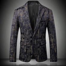 2019 New Men's Fashion Boutique Printing Wedding Dress Suit Brand Men's High-end Brand Business Casual Suit Jacket Male Coats