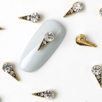 10 pieces Antique alloy Marquise 3d nail art decorations charm rhinestone glitter crystal stone jewelry acce