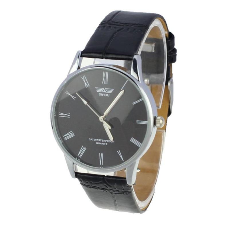 Led Leder Armbanduhr