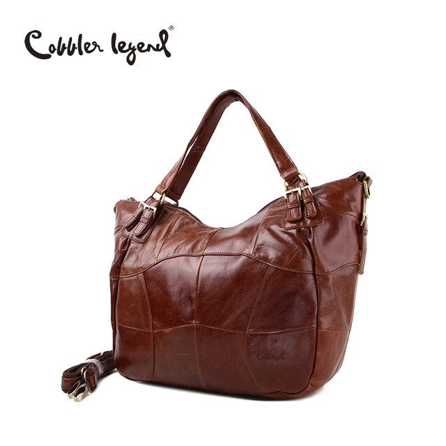Cobbler Legend High Quality Brand Women's Hobos-Shaped Handbag Real Leather Tote Bags For Ladies Large Capacity Shoulder Bag