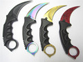 CSGO cs go counter hunt fade gold strike hawkbill tactical claw karambit neck knife real combat fight camp hike outdoor defense