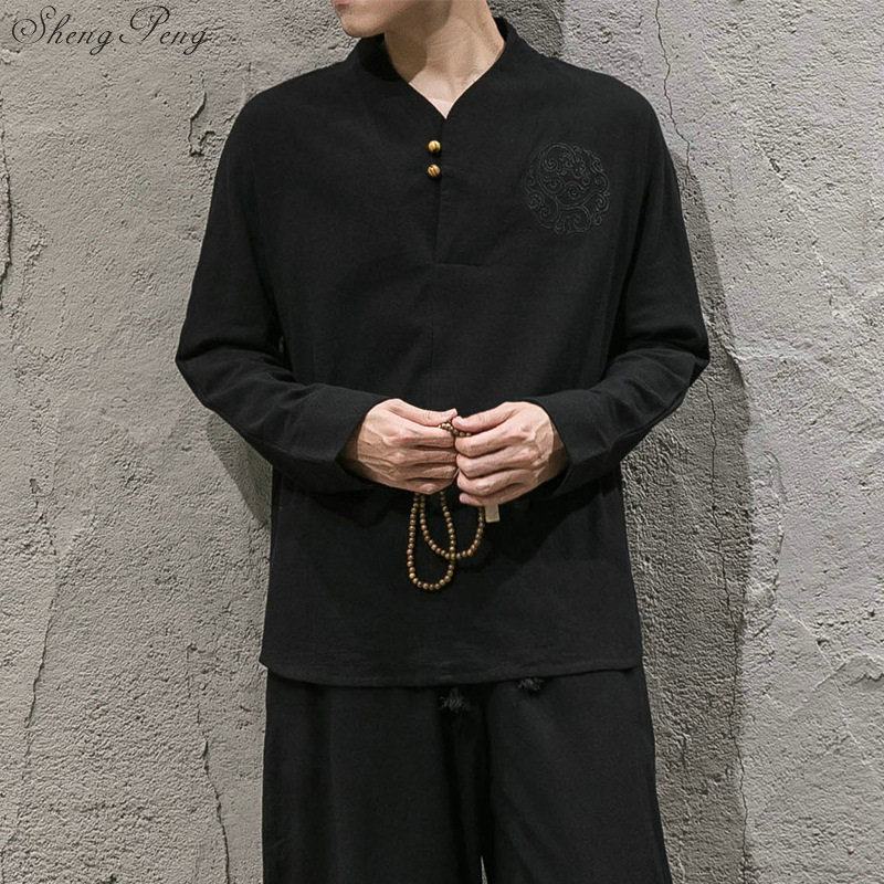 2018 new arrival linen suits men dress suits Chinese traditional men clothing solid color long sleeves