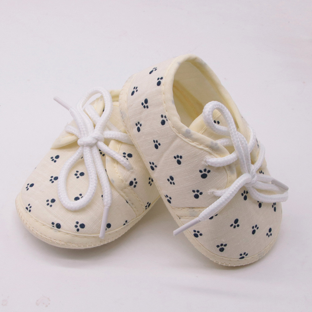 Newborn Baby Shoes Toddler Baby Girls Shoes Letter Footprint Plaid Anti-Slip Footwear Crib Shoes Bebek Ayakkabi1.371