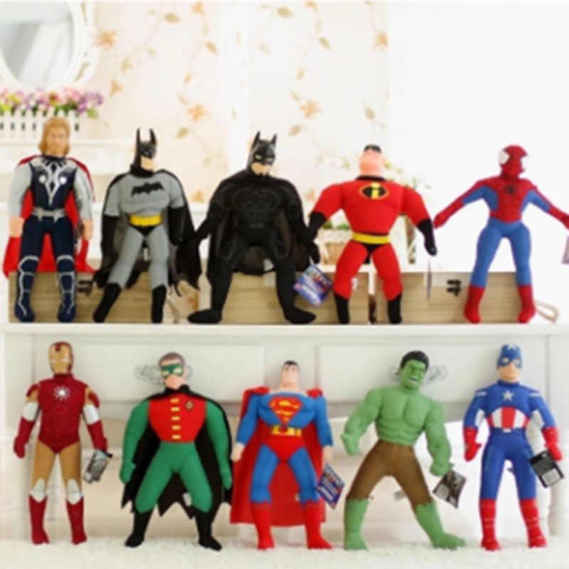 Cozfay Dropshipping Livre Homem De Ferro Hulk Capitão América Thor Vingadores Spiderman Brinquedos de Pelúcia Recheado de Brinquedos de Pelúcia Boneca para As Crianças