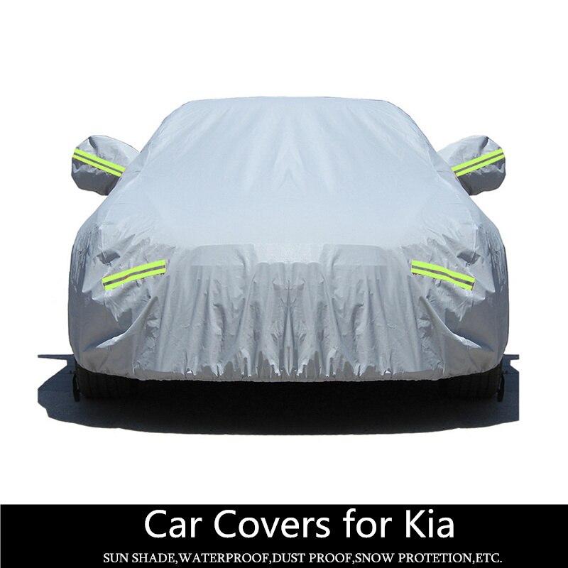 Bâches de voiture extérieur pare-soleil étanche à la pluie pour Kia k5 Optina kay honor funda coche imperméable à l'eau neige Protection voitures