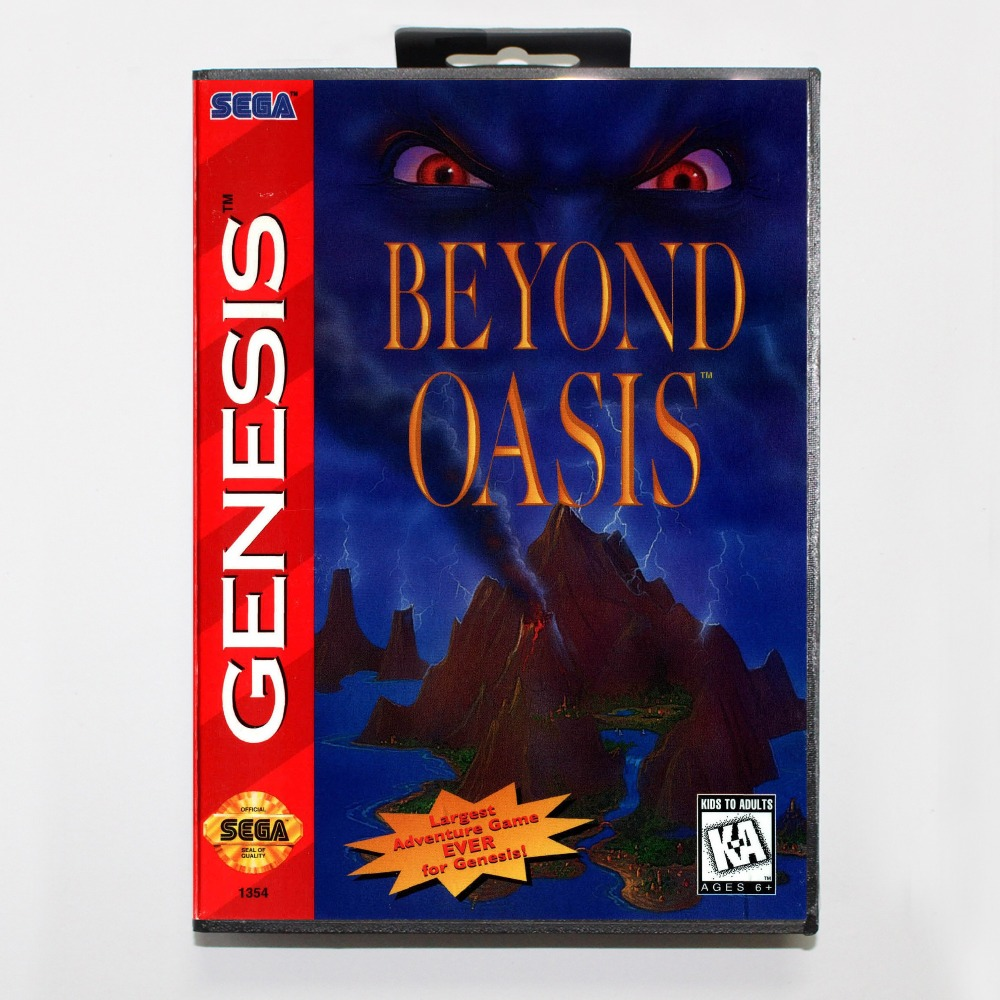 New 16 bit MD game card - beyond oasis with Retail box For Sega genesis system