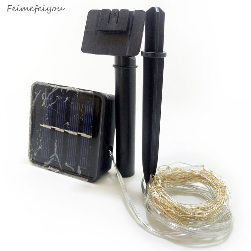 10M solenergi LED String Light Vanntett LED Kobber Wire String - Ferie belysning - Bilde 5