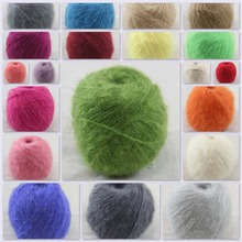 Sales 1 ball x50g color optional hand-woven mohair 50%silk  and 50% cashmere yarn 29001-29021