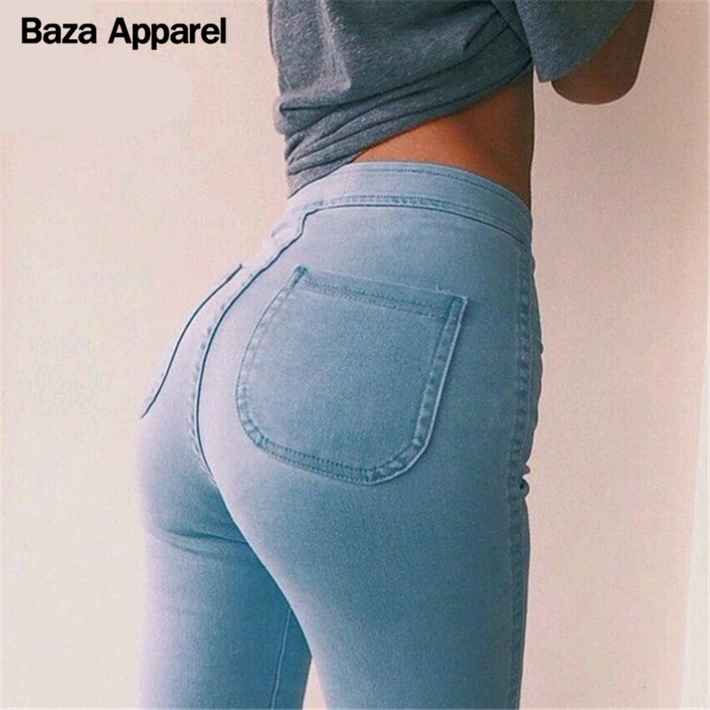 2016 High stretch women jeans black blue SEXY skinny pants America brand quality trousers new arrive