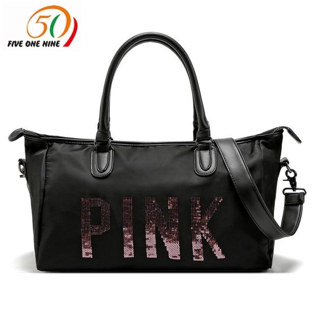 travel PINK Duffle Bag Tote beach vs bag handbag love pink girl secret fit  crossbody bags for women 2018 bolso mujer d83861ceb3524