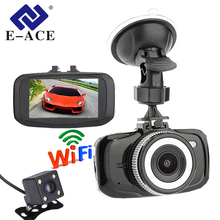 E-ACE Wifi Mini Macchina Fotografica Dell'automobile Dvr Full HD 1080 P Video Dash Cam Recorder Dual Lens Registratore Portatile Auto Registrator camcerder