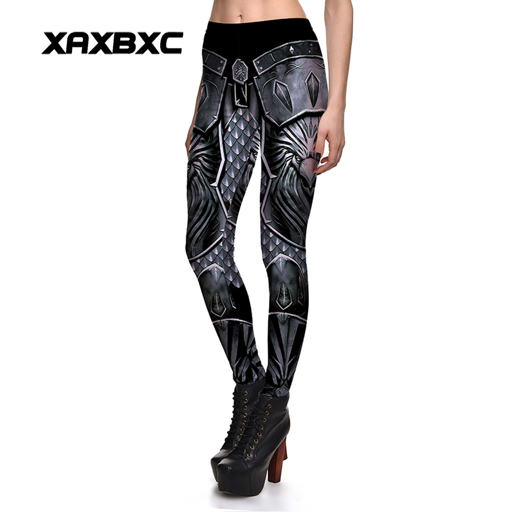 New 3851 Sexy Girl WOW Horde Eagle Armour Cospaly Printed Elastic Slim Fitness Workout Women   Leggings   Pants Plus Size