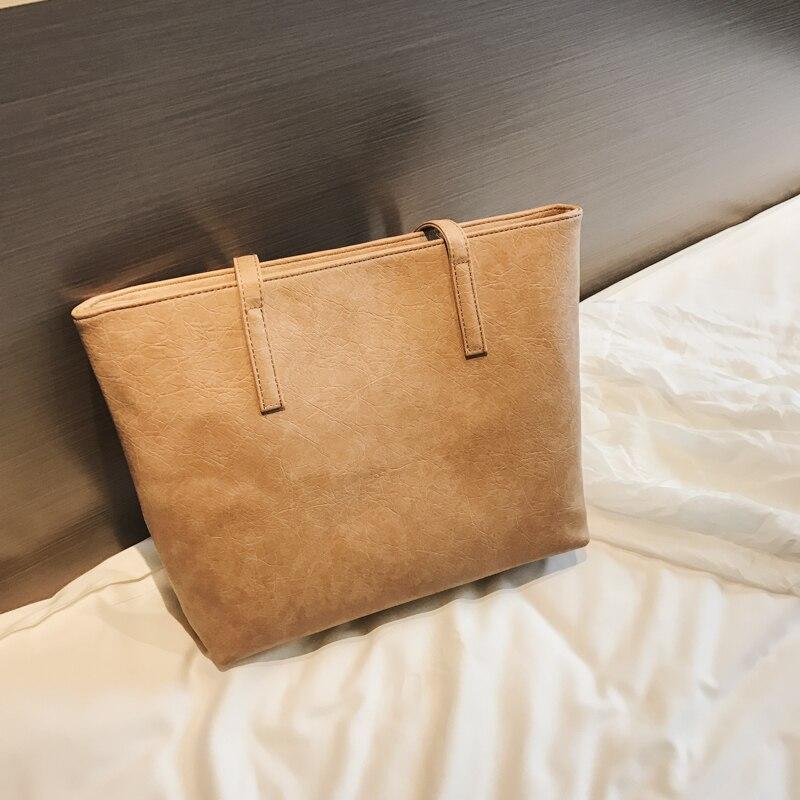 Kunzite Soft PU Leather Tote Bag for Women Leather Handbags Casual Ladies Hand Bags Large Capacity Shopper Shoulder Bag Bolsos 2