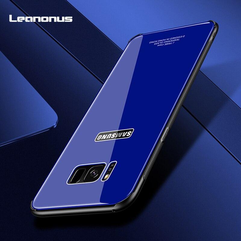 Leanonus Glass Case For Samsung Galaxy S8 Plus S8 Note8