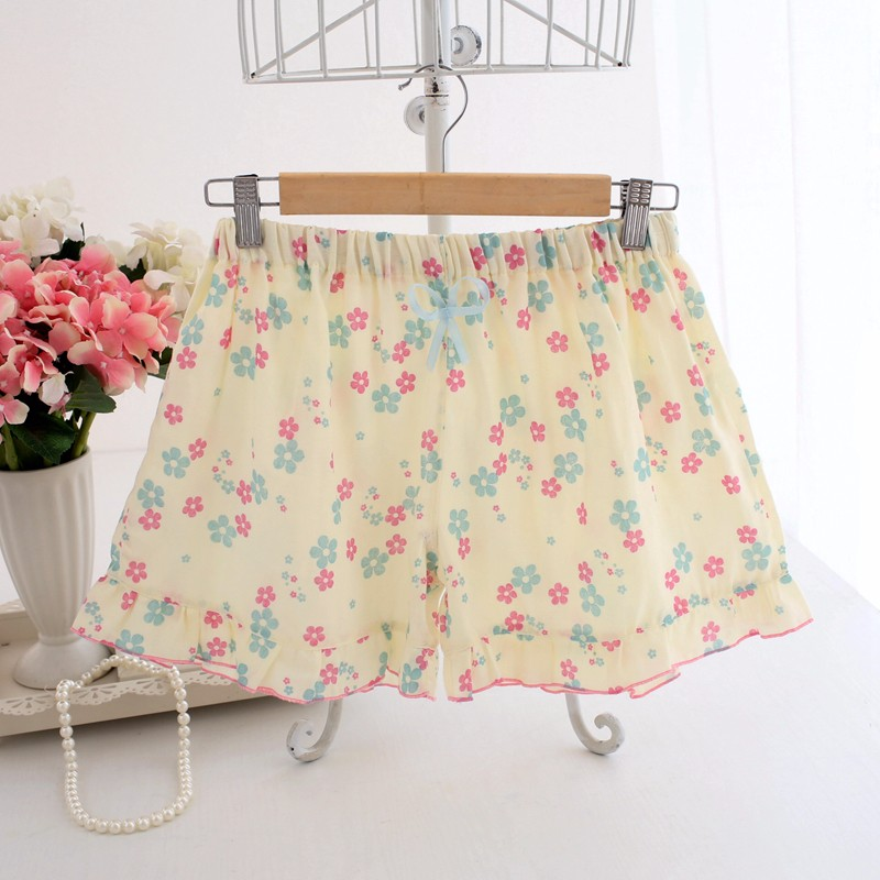 cute floral cotton shorts for women and girls