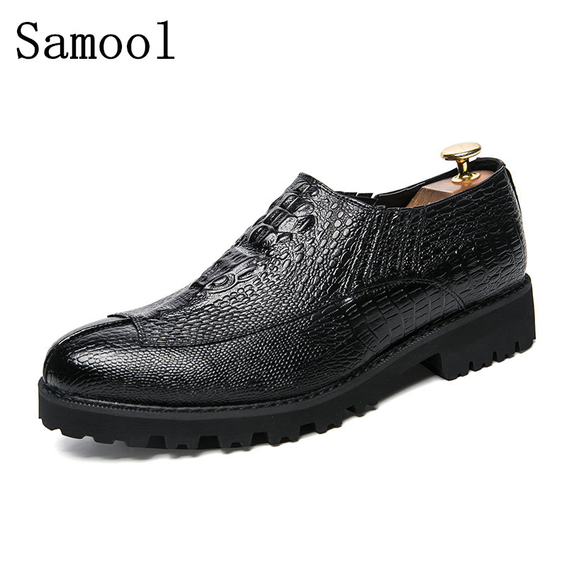 2017 PU Leather Men Dress Shoes Pointed Toe Bullock Oxfords Shoes For Men, Lace Up Designer Luxury Men Shoes, Driving Shoes