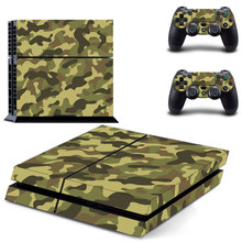 Vinyl Sticker PS4 Camouflage Skin Decal Sticker For PlayStation4 Console and 2 controller skins