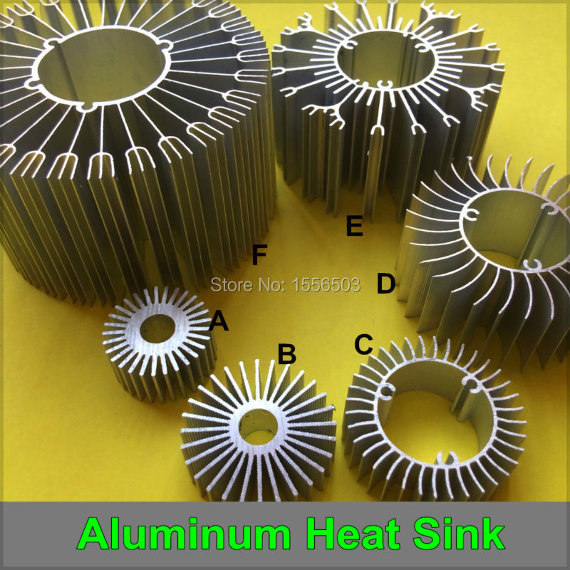5 PCS LED Aluminum Radiator Heat Sink High Power Cooler Heatsink Radiating Base for Lamp DIY 1W 3W 5W 7W 9W 12W 15W 18W 24W